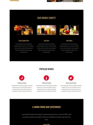 bar and cafe html template