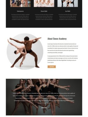 dance academy dancing school club html template