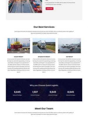 quick logistics transport and logistic html template