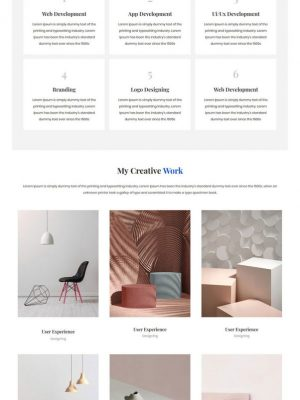 single page designer portfolio html template